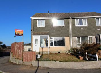 Thumbnail 3 bed semi-detached house for sale in Longfield Close, Callington