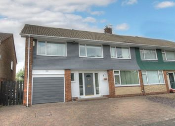 Thumbnail 5 bed semi-detached house for sale in Ashdale Crescent, Chapel House, Newcastle Upon Tyne