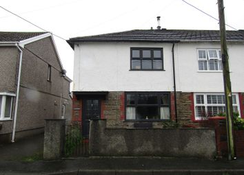 Thumbnail 3 bed end terrace house for sale in William Street, Glanrhyd, Ystradgynlais, Swansea.