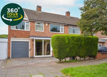 Thumbnail 4 bed semi-detached house for sale in Skelton Drive, West Knighton, Leicester