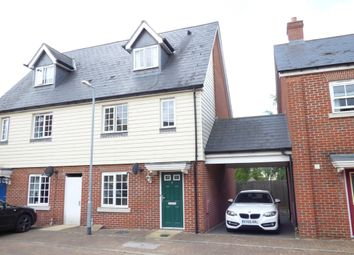 Thumbnail 3 bed town house to rent in Harold Collins Place, Colchester