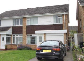 Thumbnail 3 bed semi-detached house to rent in Mendip Road, Halesowen