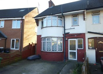 Thumbnail 3 bedroom end terrace house for sale in Brackendale Grove, Luton