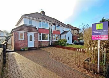 Thumbnail 3 bed semi-detached house for sale in Ynyslyn Road, Hawthorn, Pontypridd
