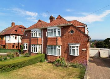 Thumbnail 3 bed semi-detached house for sale in Hilltop Crescent, Portsmouth