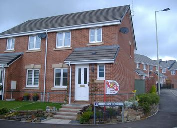 Thumbnail 3 bed semi-detached house to rent in Rhes Leith, Tondu, Bridgend.