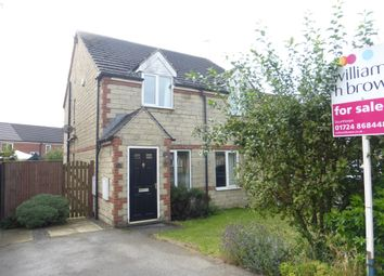 Thumbnail 2 bed semi-detached house for sale in Pinewood Close, Scunthorpe