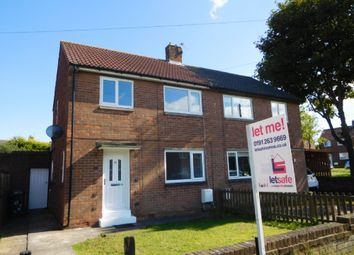 Thumbnail 2 bed semi-detached house to rent in Lilburn Road, Shiremoor