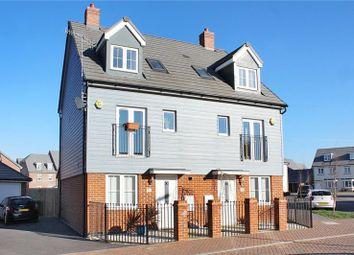 Thumbnail 4 bed semi-detached house for sale in Coleridge Crescent, Littlehampton