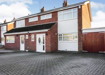 Thumbnail 3 bed semi-detached house for sale in Coombe Rise, Leicester