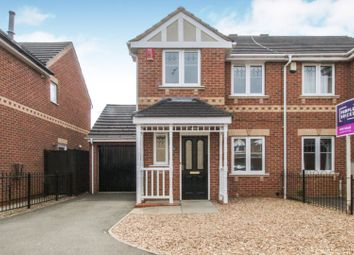 Thumbnail 3 bed semi-detached house for sale in Hallgate Close, Oakwood, Derby