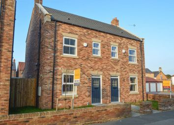 Thumbnail 3 bed semi-detached house for sale in Wagoners Close, Sherburn, Malton