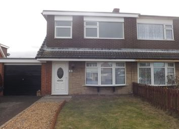 Thumbnail 3 bed semi-detached house to rent in Merfyn Way, Rhyl