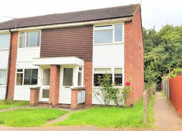 Thumbnail 2 bed end terrace house to rent in Huggett Close, Rushey Mead, Leicester