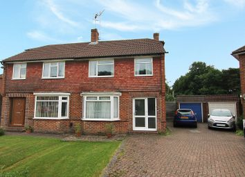 Thumbnail 3 bed semi-detached house for sale in Orpin Road, Merstham, Redhill, Surrey.