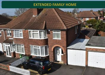 Thumbnail 3 bed semi-detached house for sale in Castleton Road, Wigston, Leicester