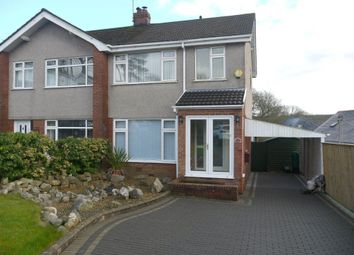 Thumbnail 3 bed semi-detached house to rent in The Dell, Killay, Swansea
