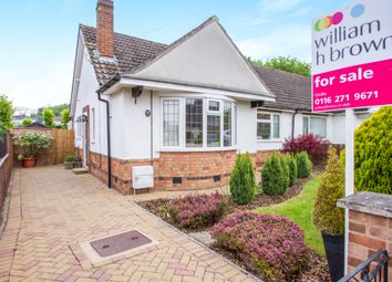 Thumbnail 2 bed semi-detached bungalow for sale in Lowcroft Drive, Oadby, Leicester