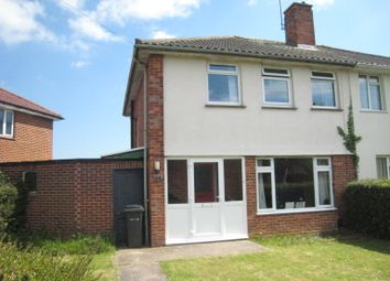 Thumbnail 3 bed semi-detached house to rent in Tukes Avenue, Bridgemary, Gosport