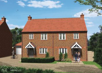 Thumbnail 3 bed semi-detached house for sale in Station Road, Heacham, King's Lynn