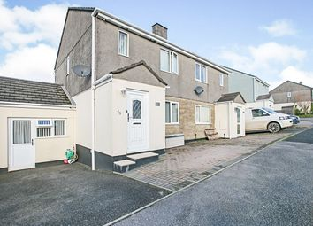 Thumbnail 3 bed semi-detached house for sale in Trethannas Gardens, Praze, Camborne, Cornwall