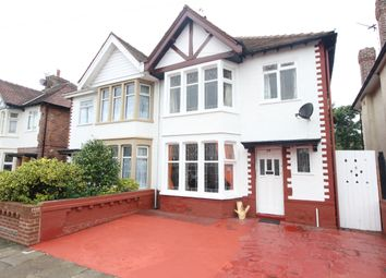 Thumbnail 3 bed semi-detached house for sale in Calder Road, North Shore, Blackpool, Lancashire