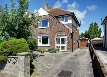 Thumbnail 3 bed semi-detached house for sale in Leighton Avenue, Worthing, West Sussex