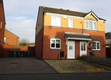 Thumbnail 2 bedroom semi-detached house for sale in Tanacetum Drive, Walsall