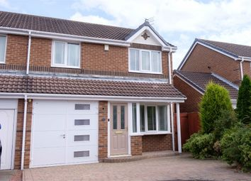 Thumbnail 3 bed semi-detached house for sale in Ploverfield Close, Ashington, Northumberland