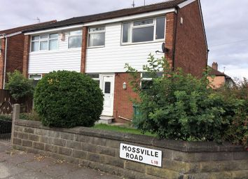 Thumbnail 3 bed semi-detached house for sale in Mossville Road, Mossley Hill, Liverpool