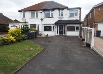 Thumbnail 4 bed semi-detached house for sale in Coleshill Road, Water Orton, Birmingham, .