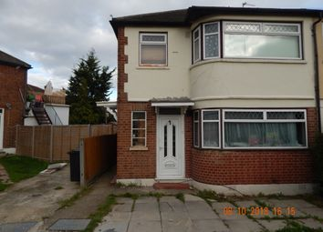 Thumbnail 2 bed maisonette to rent in Lincoln Close, Greenford