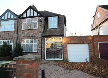 Thumbnail 3 bed semi-detached house to rent in Oaks Avenue, Worcester Park