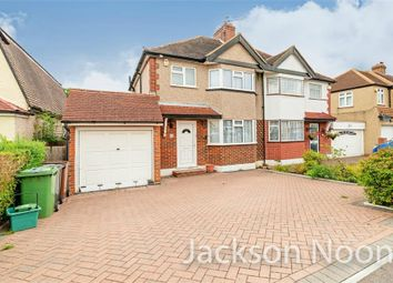 Thumbnail 3 bed semi-detached house for sale in Derek Avenue, West Ewell, Epsom