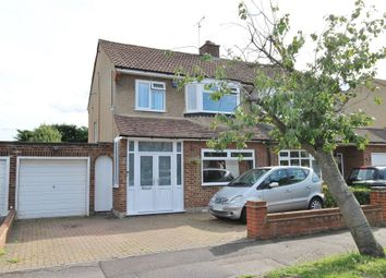 Thumbnail 3 bedroom semi-detached house for sale in Grenville Avenue, Broxbourne