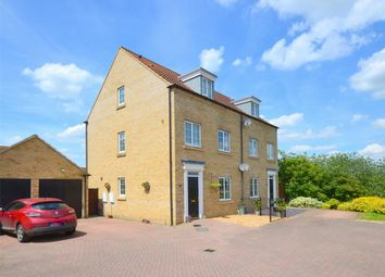 Thumbnail 4 bed town house for sale in Shepherd Drive, Eynesbury Manor, St Neots, Cambridgeshire