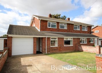 Thumbnail 4 bed semi-detached house for sale in Barton Way, Ormesby, Great Yarmouth