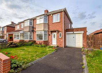 Thumbnail 3 bed semi-detached house for sale in Saxton Grove, Newcastle Upon Tyne, Tyne And Wear