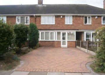 Thumbnail 3 bed terraced house to rent in Glascote Grove, Shard End, Birmingham