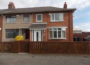 Thumbnail 3 bedroom end terrace house for sale in Fakenham Avenue, Middlesbrough