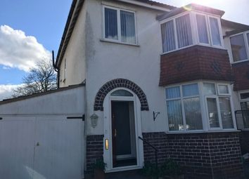 Thumbnail 3 bed semi-detached house to rent in Fallowfield Avenue, Hall Green, Birmingham