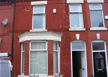 Thumbnail 3 bedroom terraced house to rent in Kempton Road, Wavertree, Liverpool