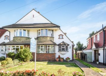 Thumbnail 3 bed semi-detached house for sale in Woodstone Avenue, Stoneleigh, Epsom