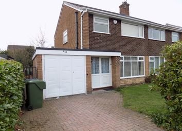 Thumbnail 3 bed semi-detached house to rent in Long Compton Drive, Stourbridge, Hagley