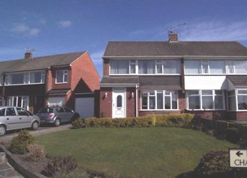 Thumbnail 3 bed semi-detached house for sale in Rayleigh Drive, Wideopen, Newcastle Upon Tyne