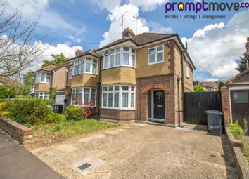 Thumbnail 3 bed semi-detached house to rent in Wychwood Avenue, Luton