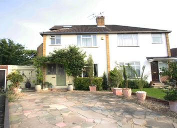 Thumbnail 4 bed semi-detached house for sale in Thames Close, Chertsey, Surrey