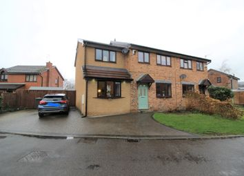 Thumbnail 4 bed semi-detached house for sale in Wharn Cliffe Close, Hadfield, Glossop