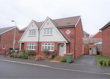 Thumbnail 3 bed semi-detached house for sale in Kingfisher Way, Hengoed