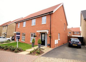 Thumbnail 3 bedroom semi-detached house for sale in Barbastelle Crescent, Hethersett, Norwich